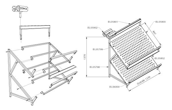 Modular shop rack systems & instore interior shelving design - Fruit and vegetable presentation