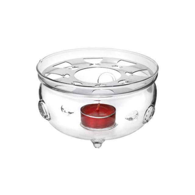 GLASS TEAPOT WARMER  - null
