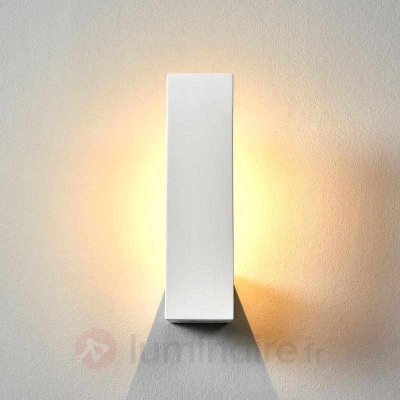 Applique LED Cera blanche en céramique - Appliques LED