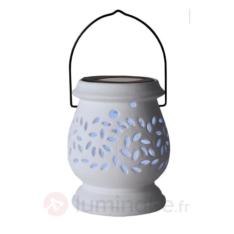 Photophore solaire LED blanc Clay Lantern - Lampes solaires décoratives