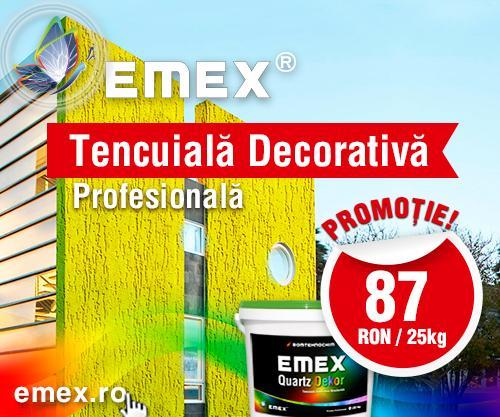 Super Promotie la Tencuiala Decorativa  - 25 Kg / 87 lei - Calitate profesionala si durata de viata de minim 10 ani.