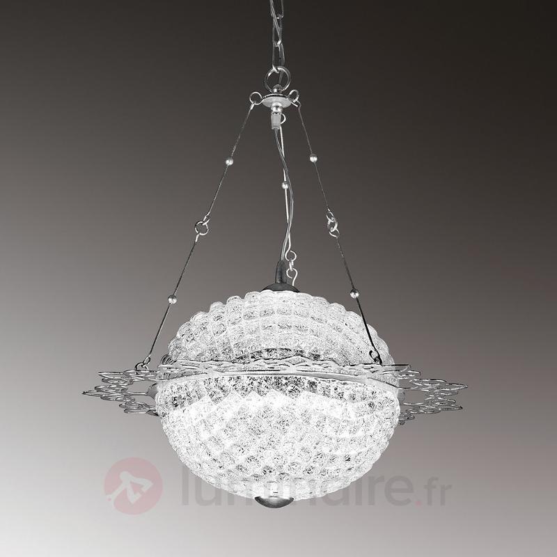 Brillare - suspension LED fascinante, ronde - Suspensions en cristal
