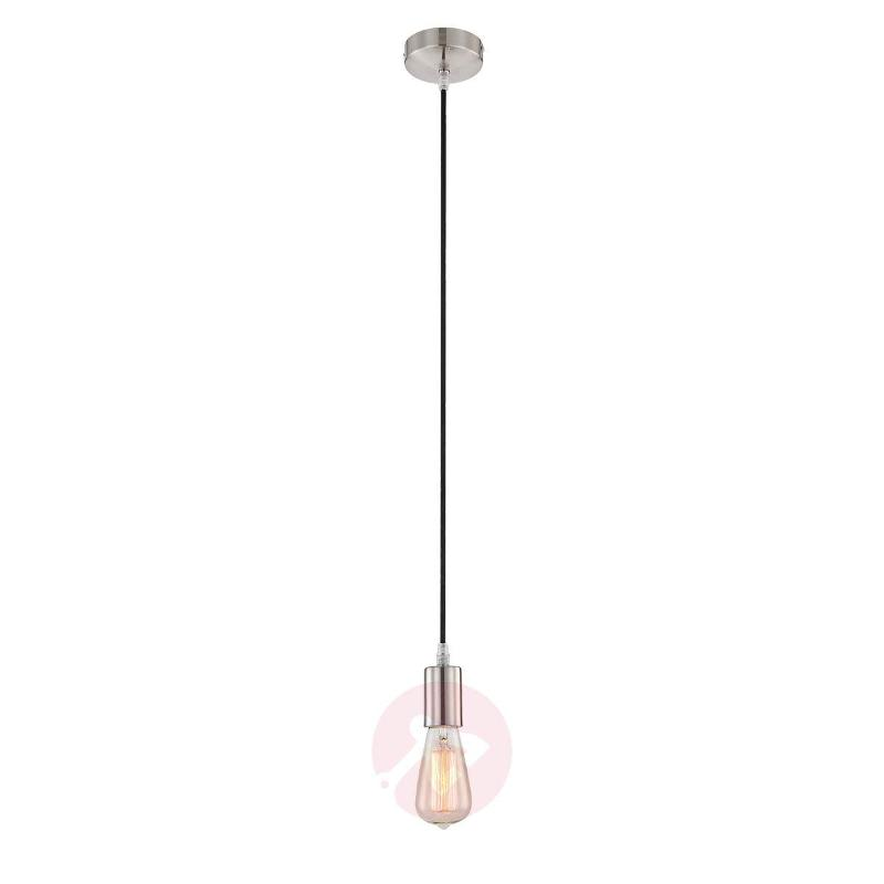 Striking Haiko hanging light with black cable - Pendant Lighting
