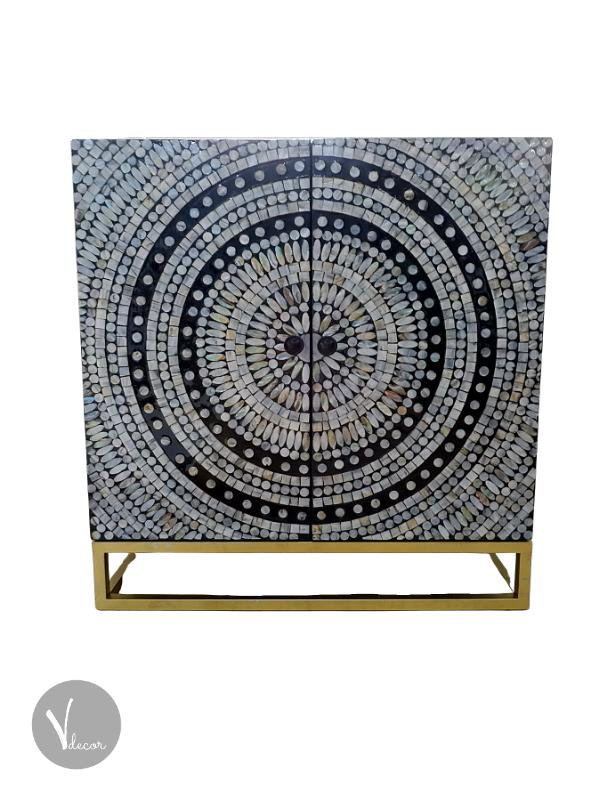 Mother of Pearl Inlay Lacquer Shoe Cabinet - Shop
