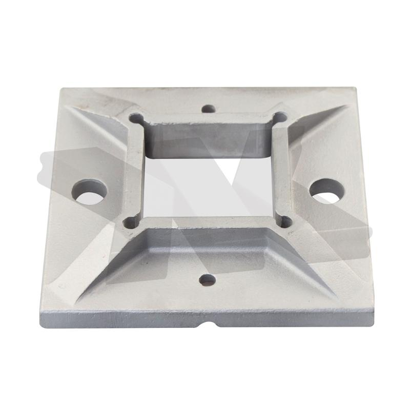 Baluster flange plate, square - Stainless steel tubes & accessories