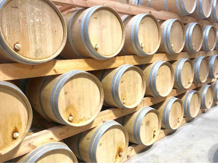 Soportes para barriles ( latas ) - Etiqueta ecológica Bois Francia