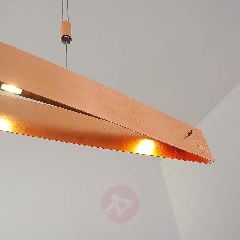 Elegant Malu LED pendant lamp, copper appearance - Pendant Lighting