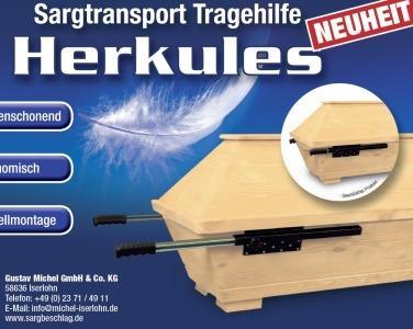 Bestatter Tragehilfe Herkules für Särge - Verwenden Sie einen Holzsarg so sicher wie eine Überführungstrage.