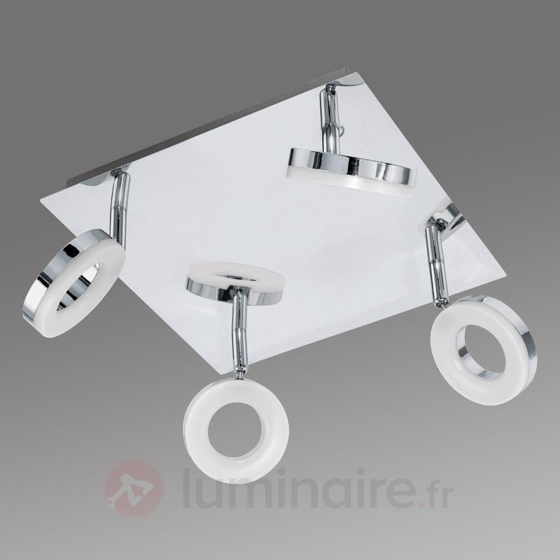 Plafonnier carré LED Gonaro - IP44 - Salle de bains