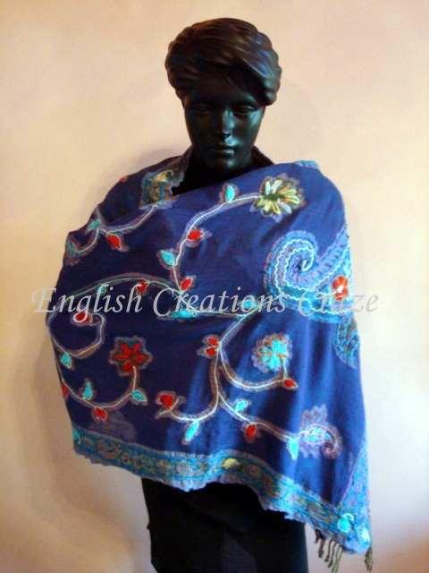 Wool Lycra with embroidery Scarves - Wool Lycra with embroidery Scarves