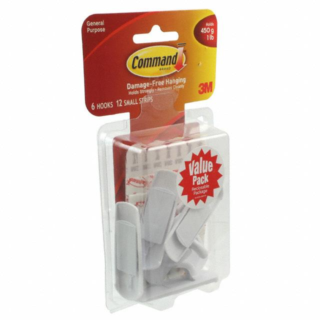 SMALL UTILITY HOOKS VALUE PACK - 3M 17002-6ES
