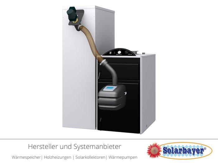 Solarbayer Holzpelletkessel Pellmax - mit Pelletbrenner Viking Bio 200