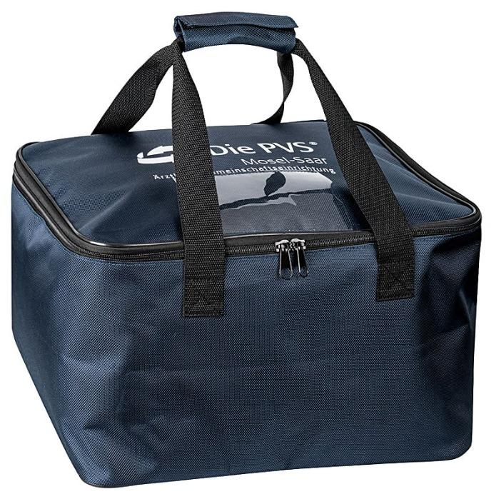Transporttasche blau für Akten - aus 1600D Polyester mit PVC Innencoating