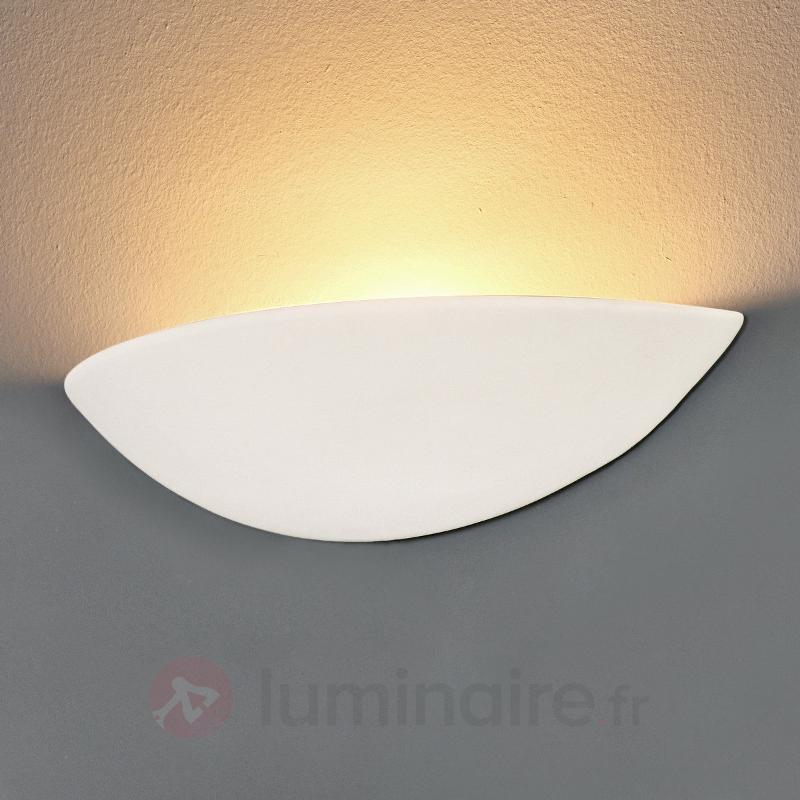 Applique LED en plâtre PALE à peindre - Appliques en plâtre