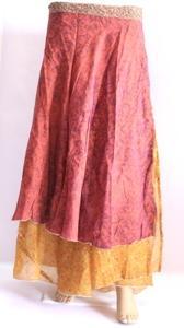 Bohemian,Silk Sari Skirt,Magic Long Wrap Skirt,Halter Sarong