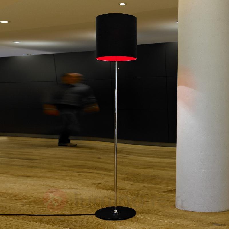Lampadaire Schnepel anthracite-rouge - Lampadaires design