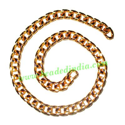 Gold Plated Metal Chain, size: 1.5x7mm, approx 11.9 meters i - Gold Plated Metal Chain, size: 1.5x7mm, approx 11.9 meters in a Kg.