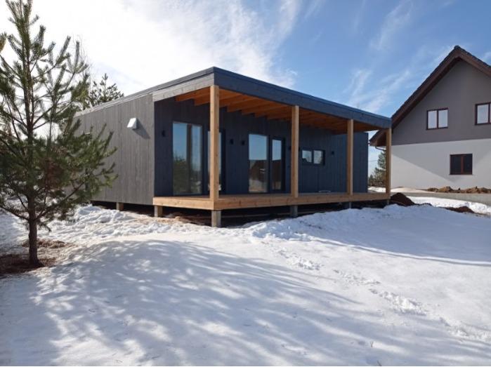 Модульный дом 64 м2 - Современный модульный дом 64 м2