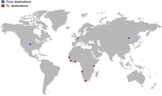 Ligne de service GENES-DOUALA  - Shipping solutions