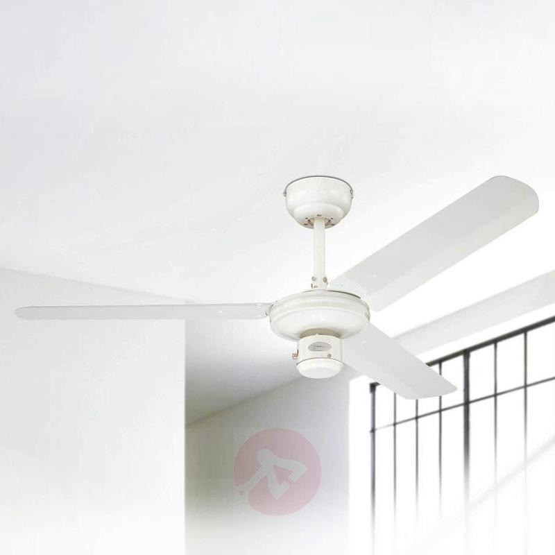 White industrial ceiling fan - fans