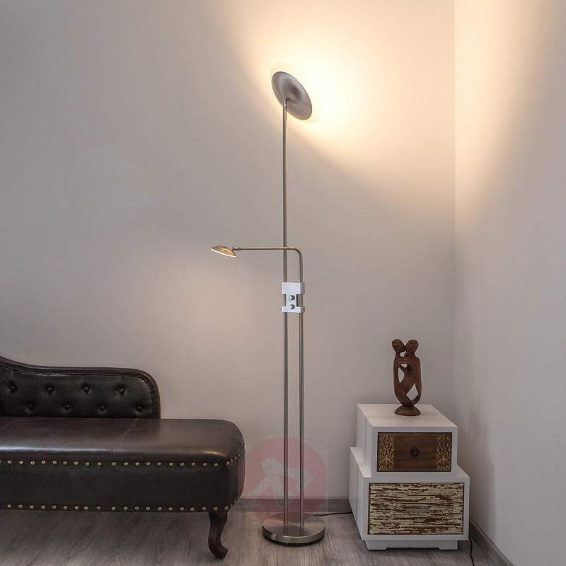 Talia Modern Ceiling Floodlight with Reading Lamp - Floor Lamps