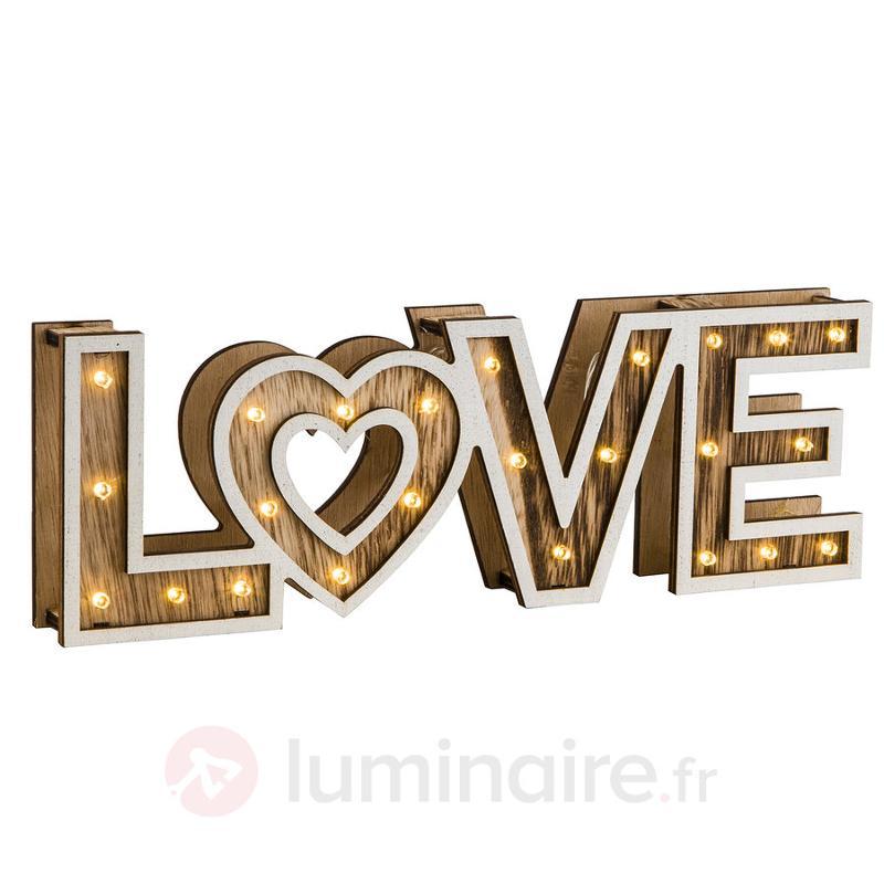 Lampe à poser LED Ami Love à piles - Lampes à poser LED