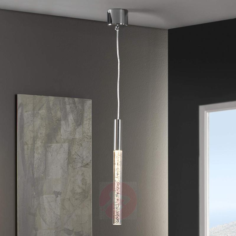 Cosmo slim LED pendant light with flair - design-hotel-lighting