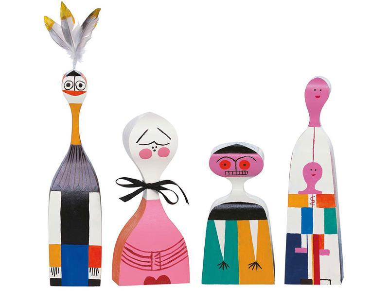 Statuette Wooden Dolls - Decorazione casa