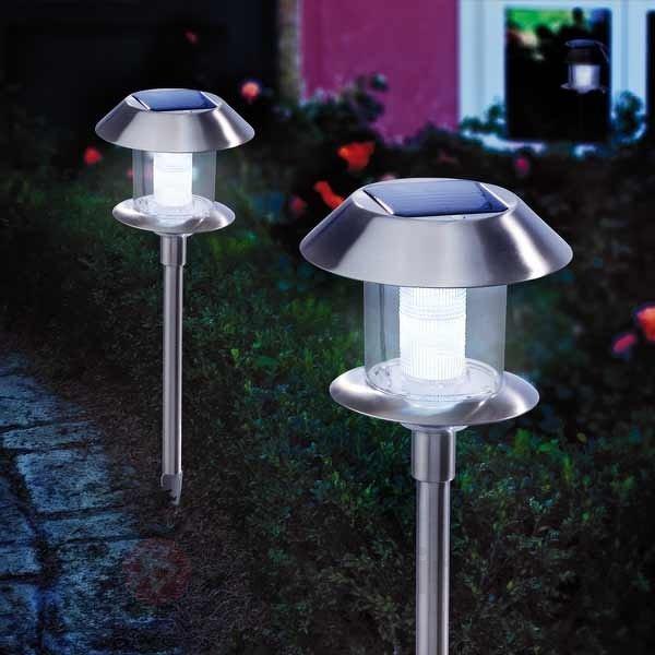 Lampe solaire Swing Duo Solar en inox - Toutes les lampes solaires