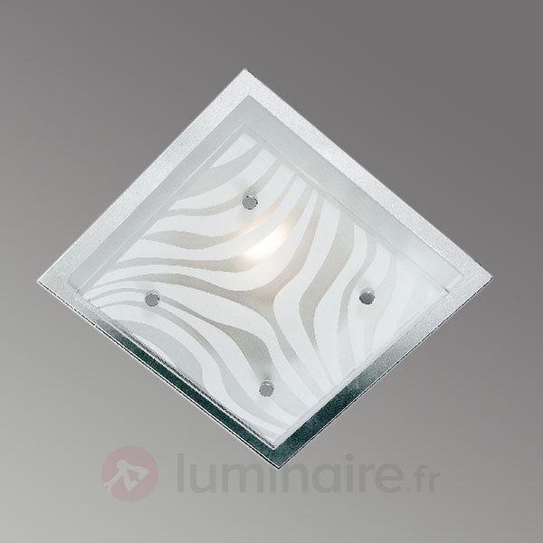 Plafonnier WAVE carré - Plafonniers chromés/nickel/inox