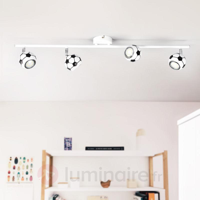 Play - super plafonnier LED dans un look foot - Chambre d'enfant