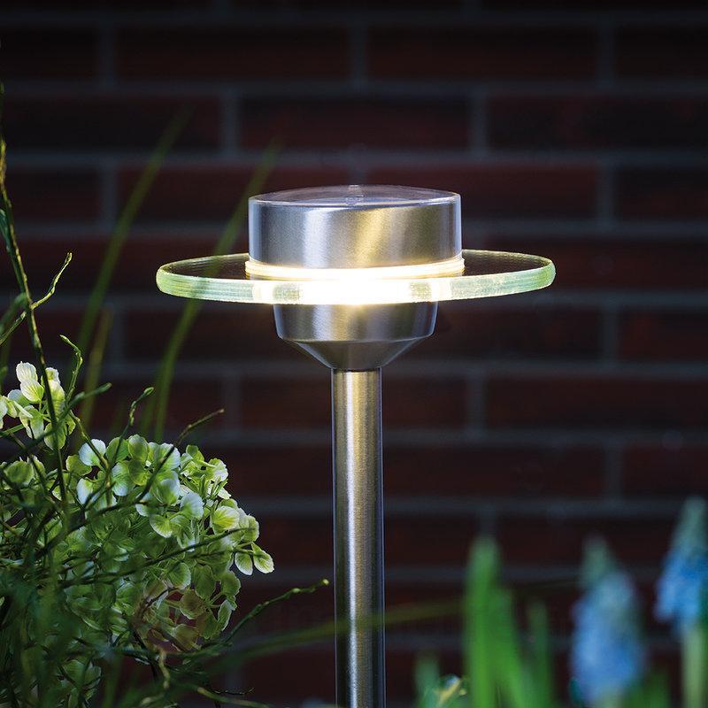 Lampe solaire LED Ufo en inox IP 44 - Toutes les lampes solaires