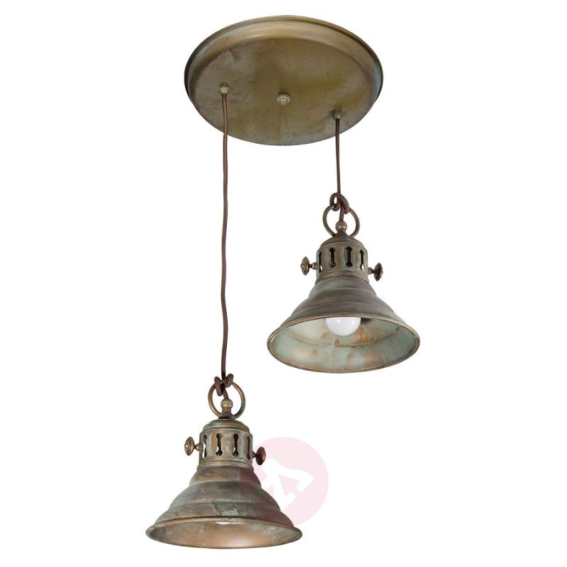 2-bulb hanging light Dunja - design-hotel-lighting