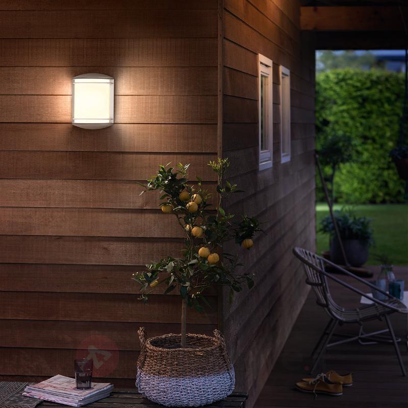 Applique d'extérieur LED robuste Antelope en blanc - Appliques d'extérieur LED