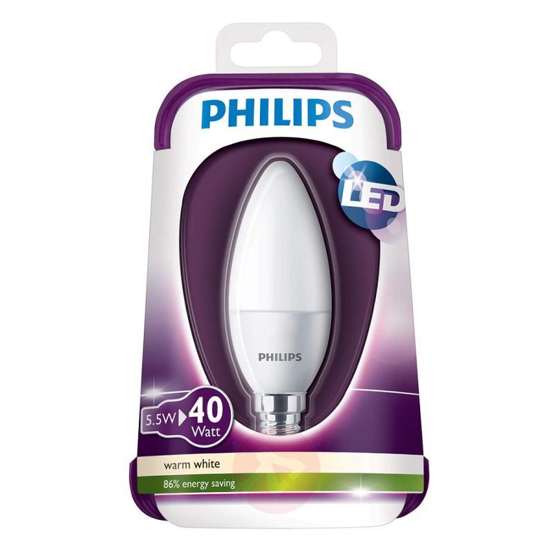 E14 5.5 W 827 LED candle light bulb, matt - light-bulbs