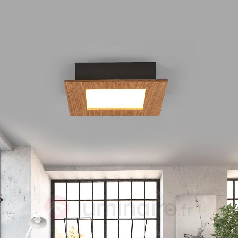 Plafonnier bois LED Deno chêne naturel - Plafonniers LED