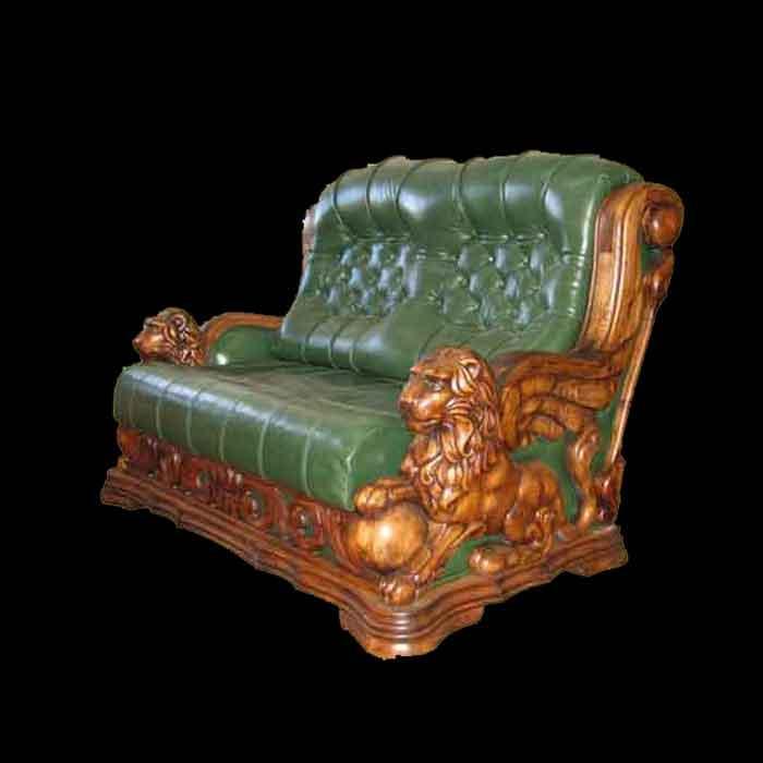 Софа-Империя - софа из дерева плюс подушки кожа