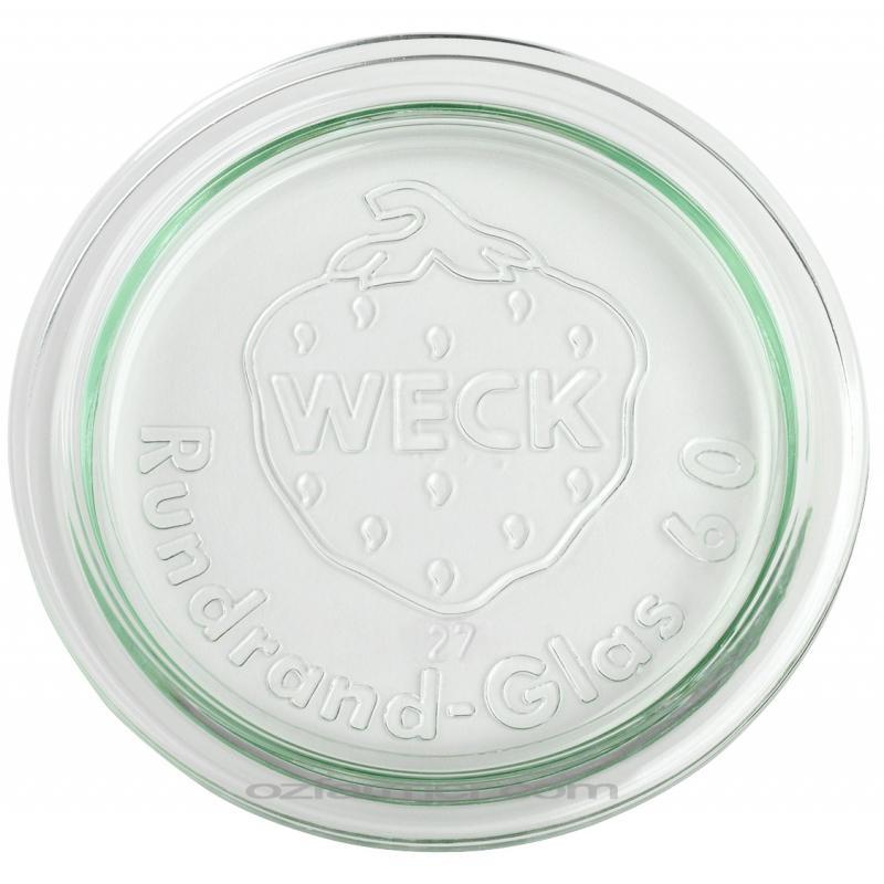 6 Coperchi di vetro per vasi WECK  - diametro 60 mm