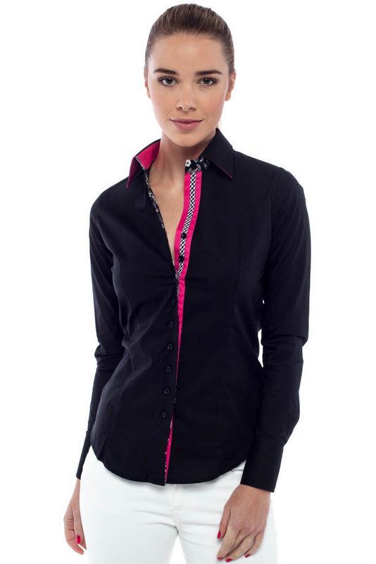 Black Dress Shirts for Women, black dress shirts, 100% cotton, oem ...