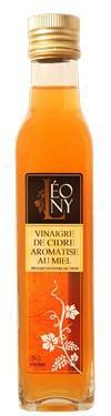 Vinaigre de Cidre BIO  - 5 % d'acidité Aromatisé au Miel LEONY