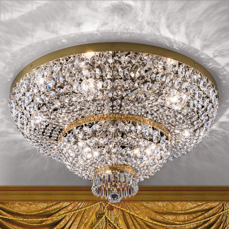 Gold-plated crystalceiling lamp Sheraton - design-hotel-lighting