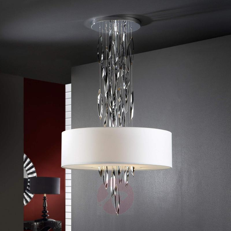 Elegant hanging light Domo with chrome elements - design-hotel-lighting