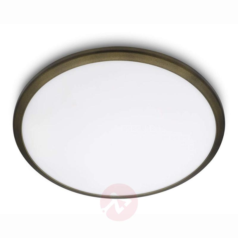 Denim LED ceiling light with bronze frame - indoor-lighting