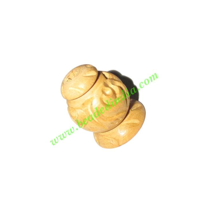 Natural Color Wooden Beads, size 16x21mm, weight approx 1.91 - Natural Color Wooden Beads, size 16x21mm, weight approx 1.91 grams
