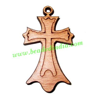 Handmade wooden cross (christian) pendants, size : 39x26x4mm - Handmade wooden cross (christian) pendants, size : 39x26x4mm
