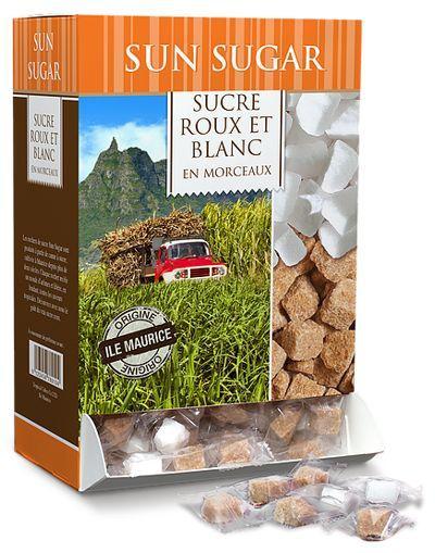 Sachets de sucre individuels - Sun Sugar - Emballages en marque blanche