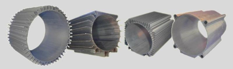 Components for electric motors - Statorhousing extruded aluminium