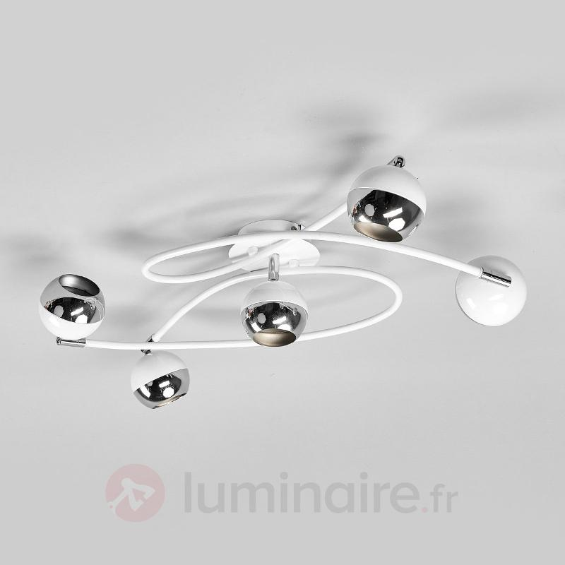 Arvin - plafonnier LED à 5 lampes, blanc - Plafonniers LED