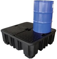 Bac de rétention et caillebotis polyéthylène-stockage... - BRPN 4F Bacs de rétention acier et plastique