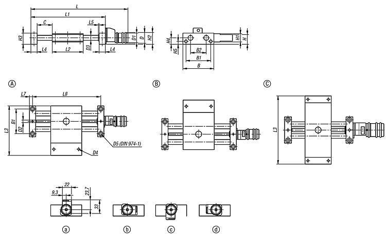 Table croisée longue avec indicateur de position - Système de positionnement